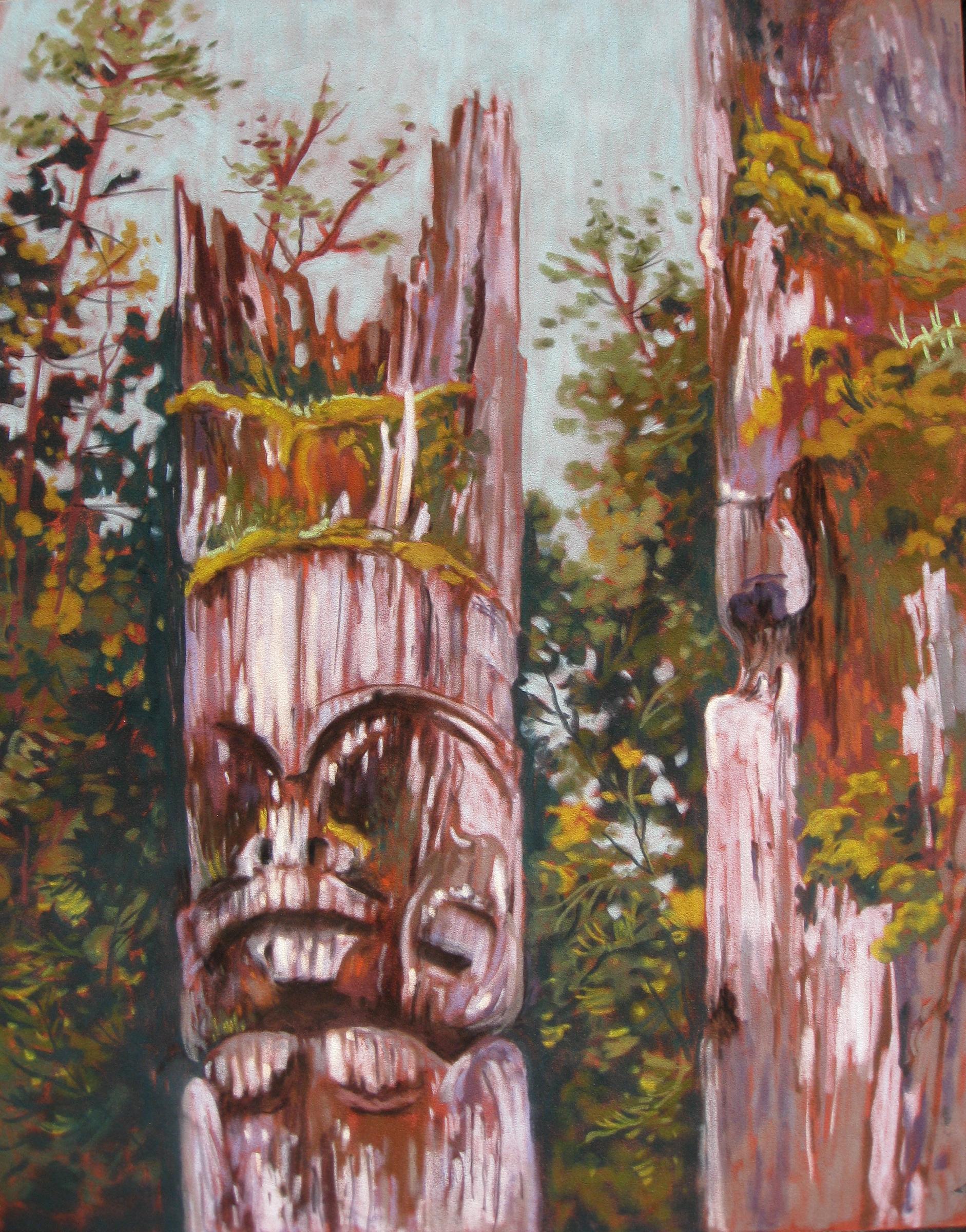 Mortuary Poles - A Tree's last Journey