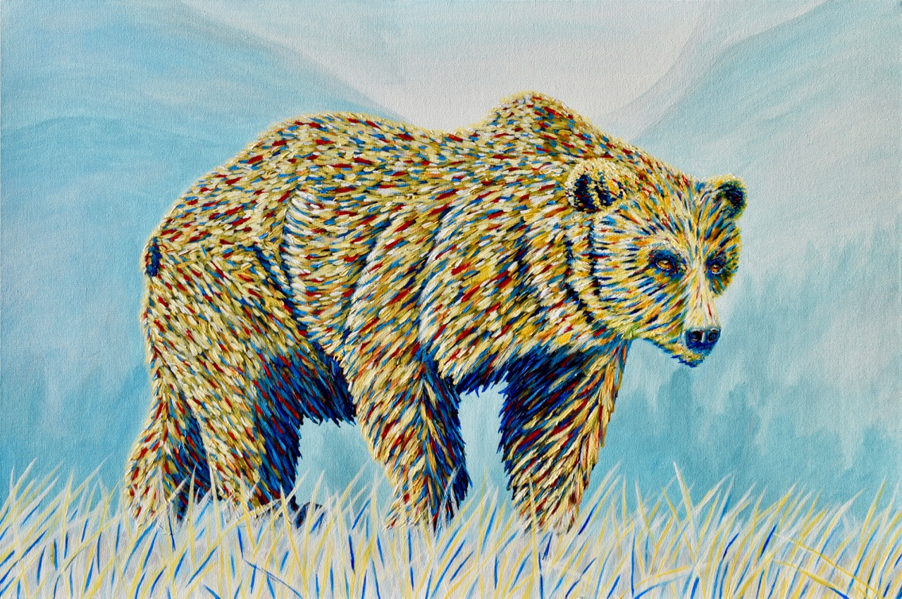 Colourful Grizzly Bear