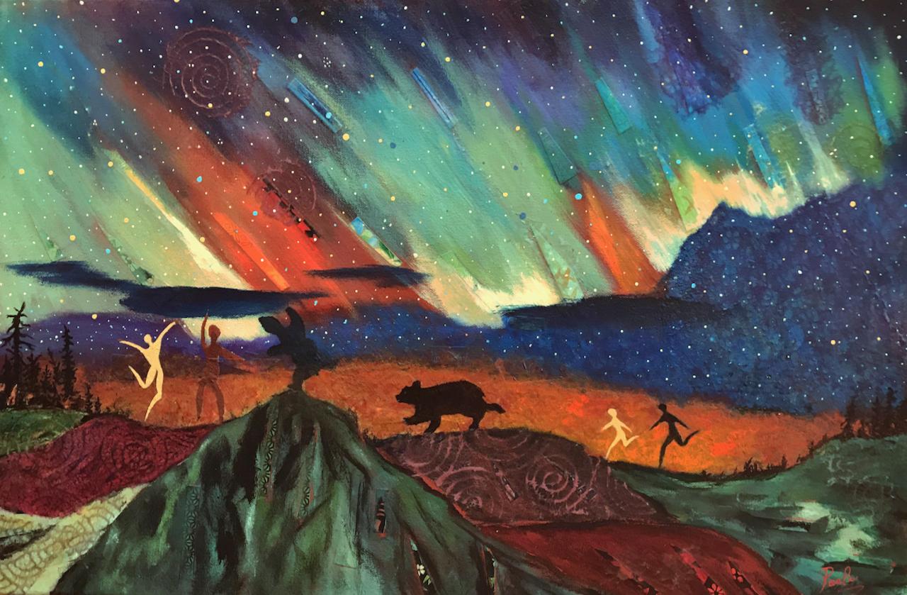 Northern Lights Dance (Framed)