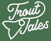 trout tales tasmania logo in white