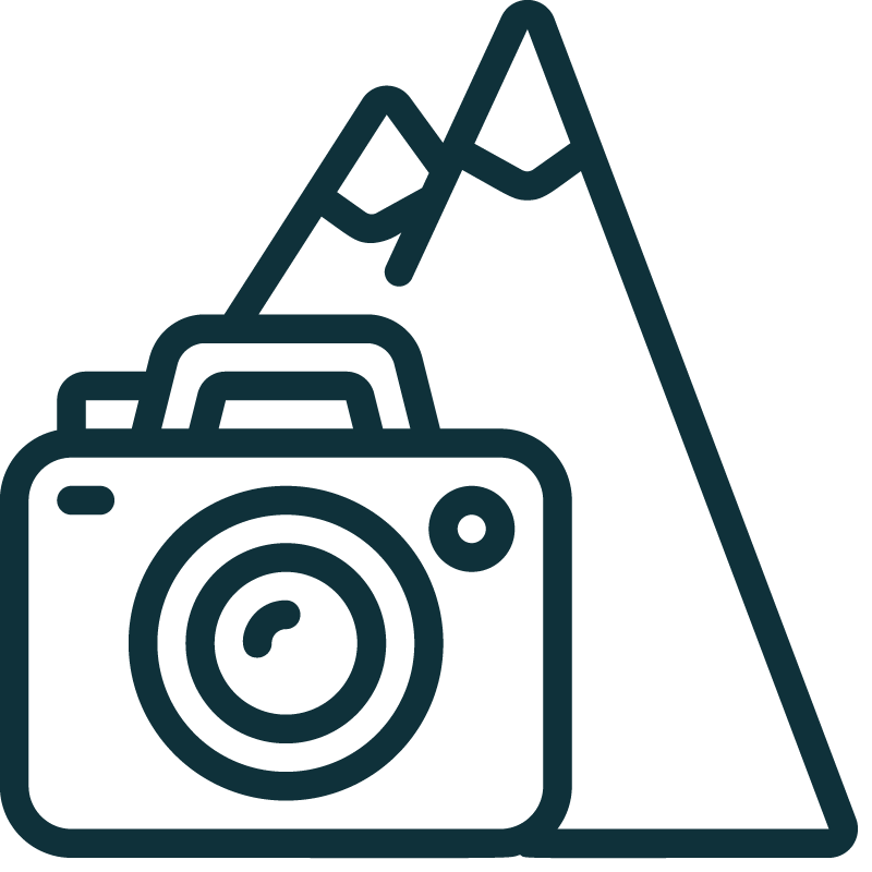 icon of mountain and camera