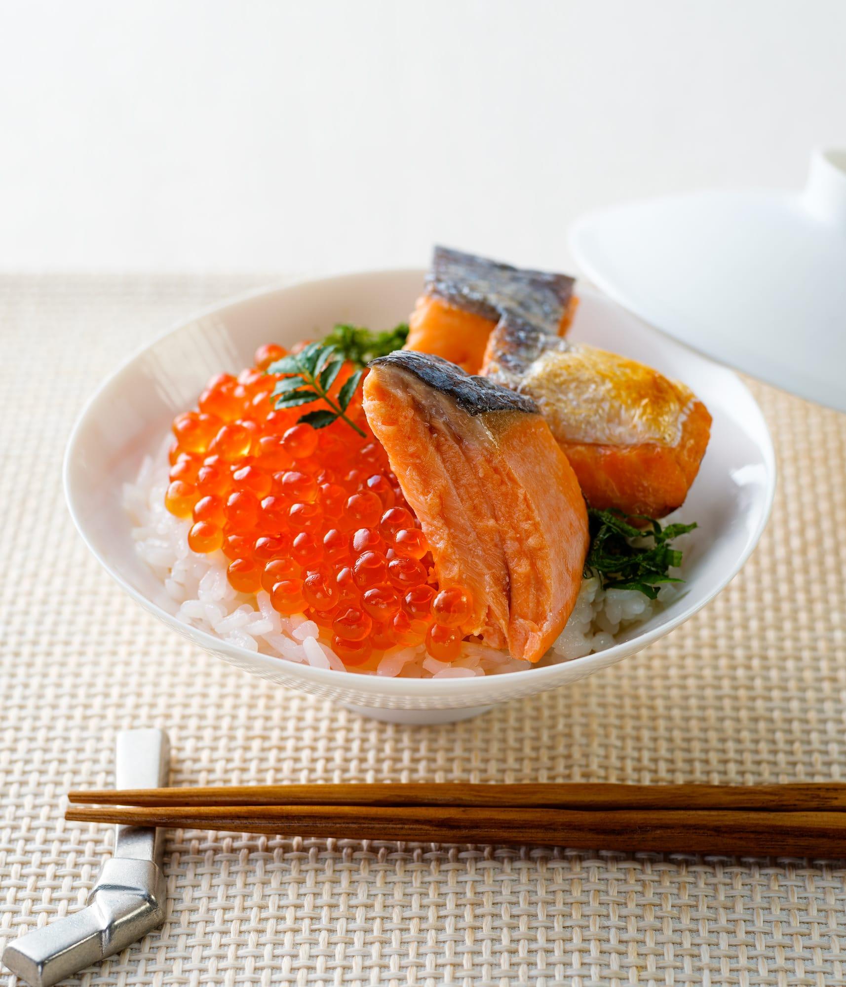 ふんわり銀鮭海鮮丼ぶり