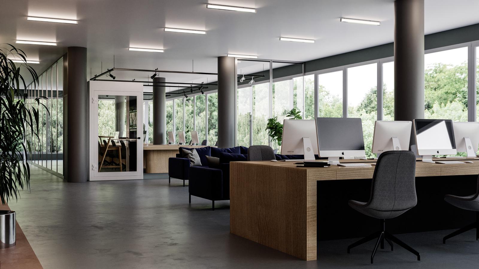 Stillerom sømløst plassert i åpent kontorlandskap