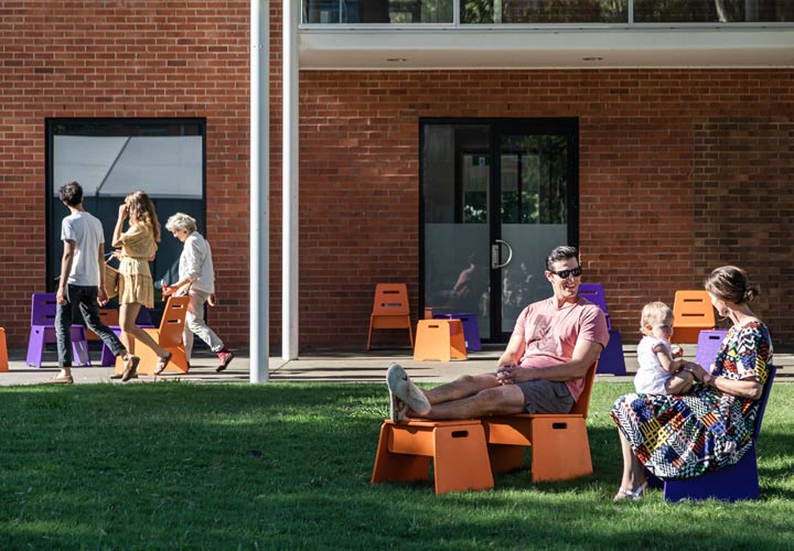 Outside Assembly Furniture at Lismore Regional Gallery