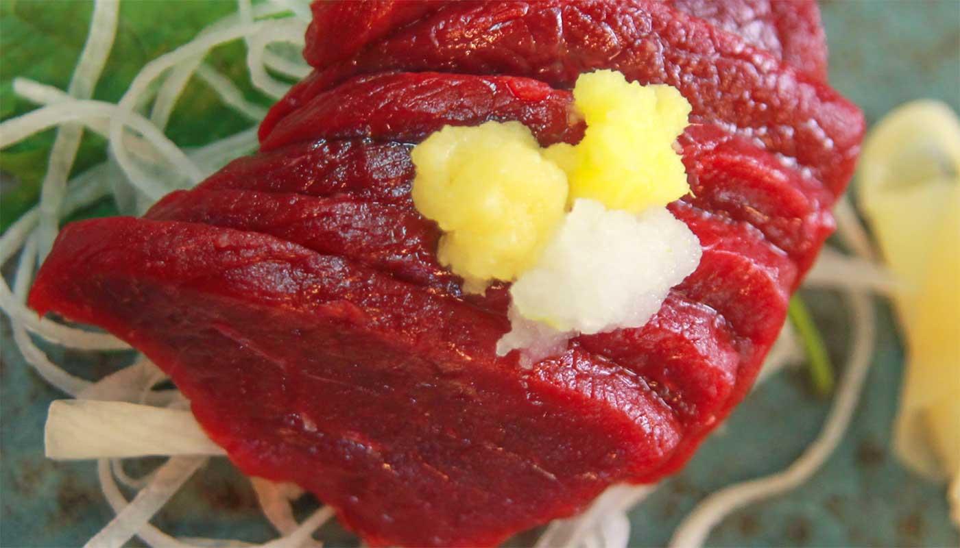 Sashimi av hval