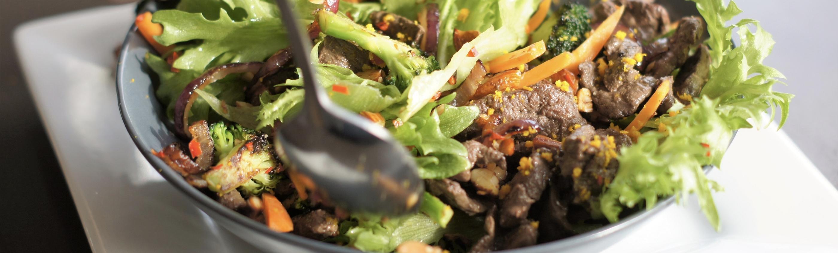 Varm salat med hvalskav