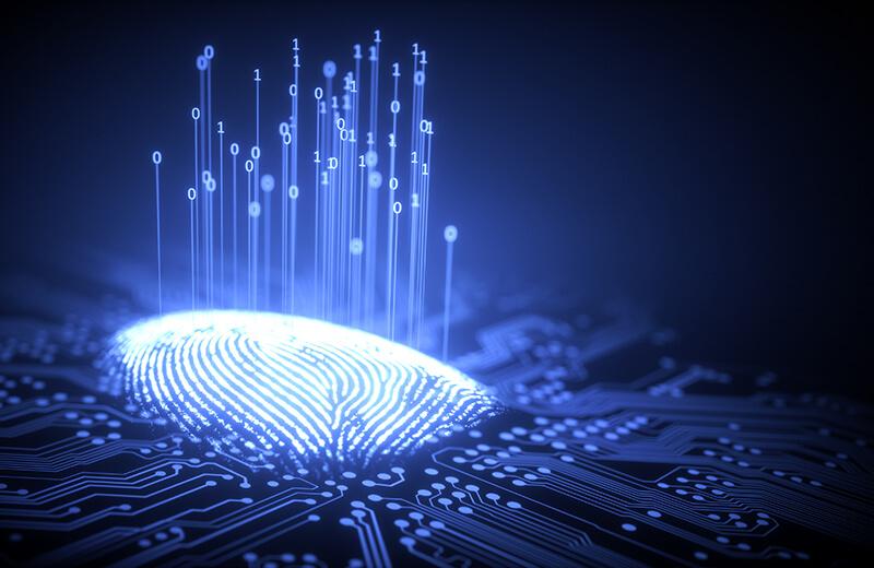 fingerprint on print plate