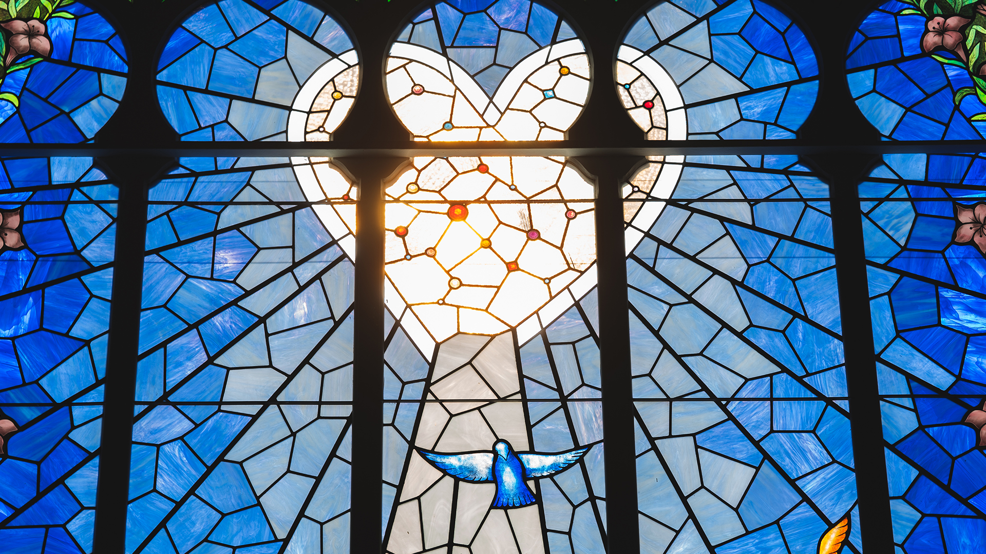 Stained Glass image of heart