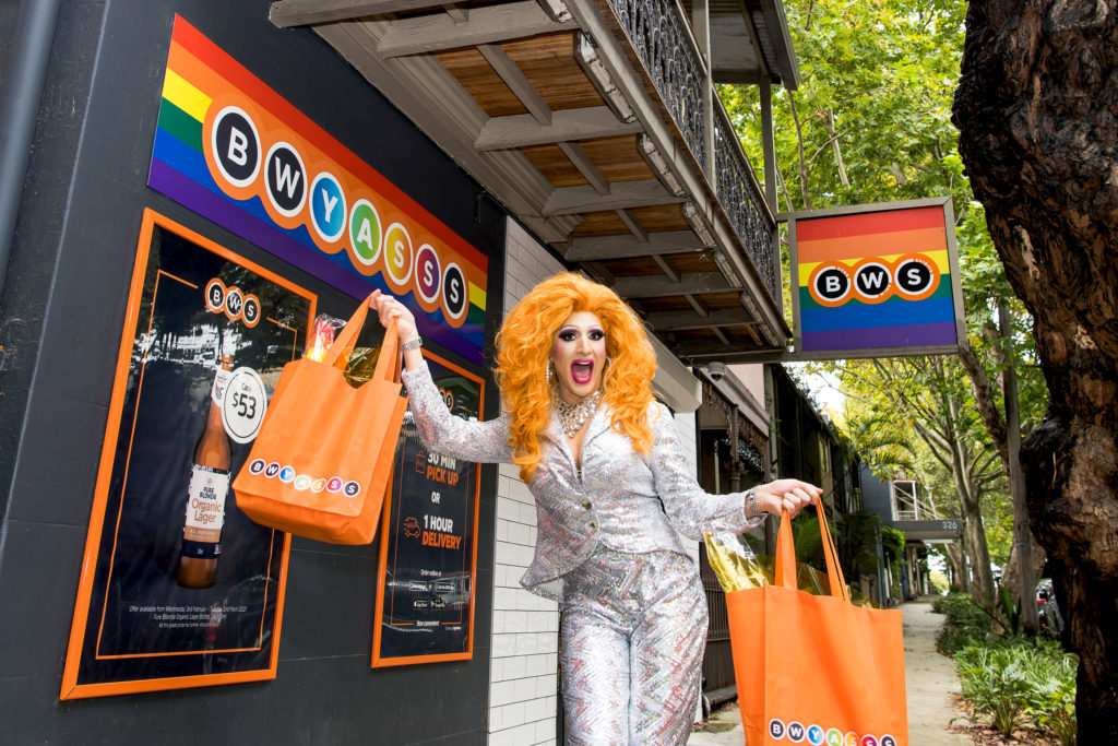 BWS celebrates Mardi Gras with store makeovers and drag queen deliveries