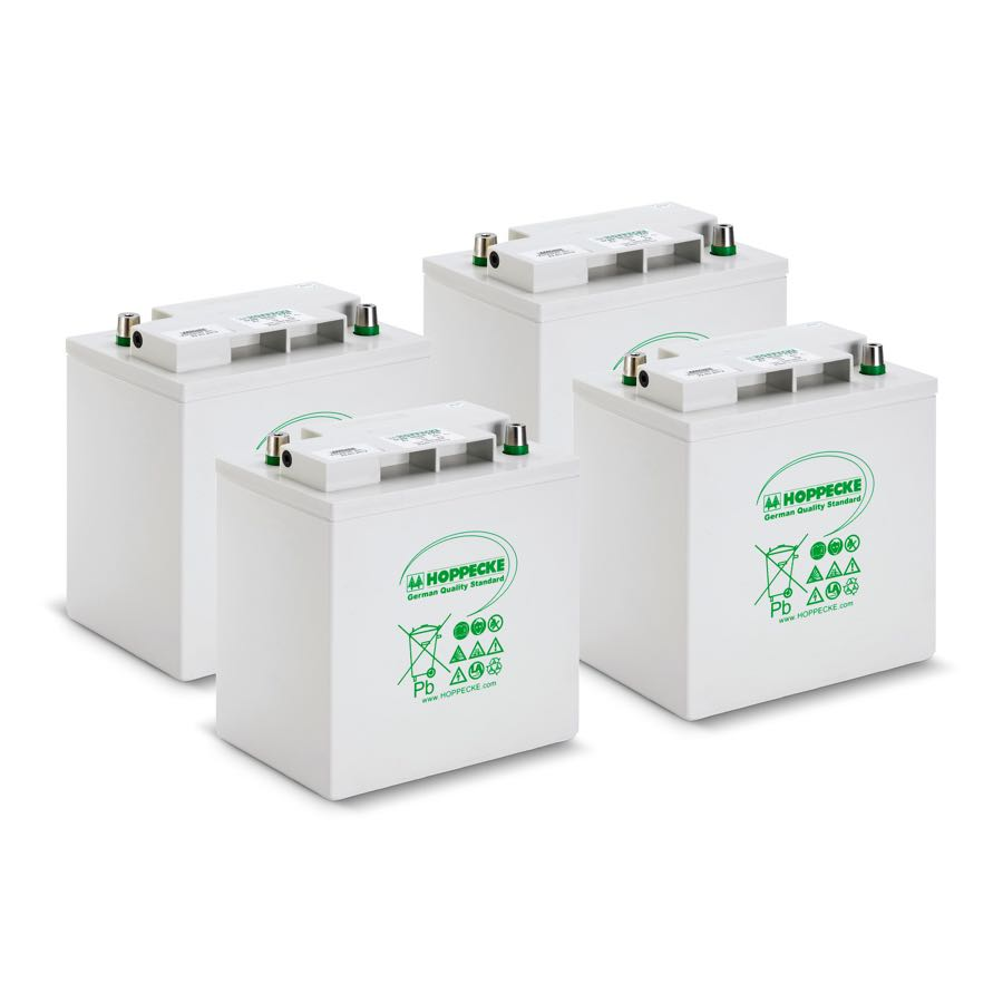 A collection of Hoppecke batteries