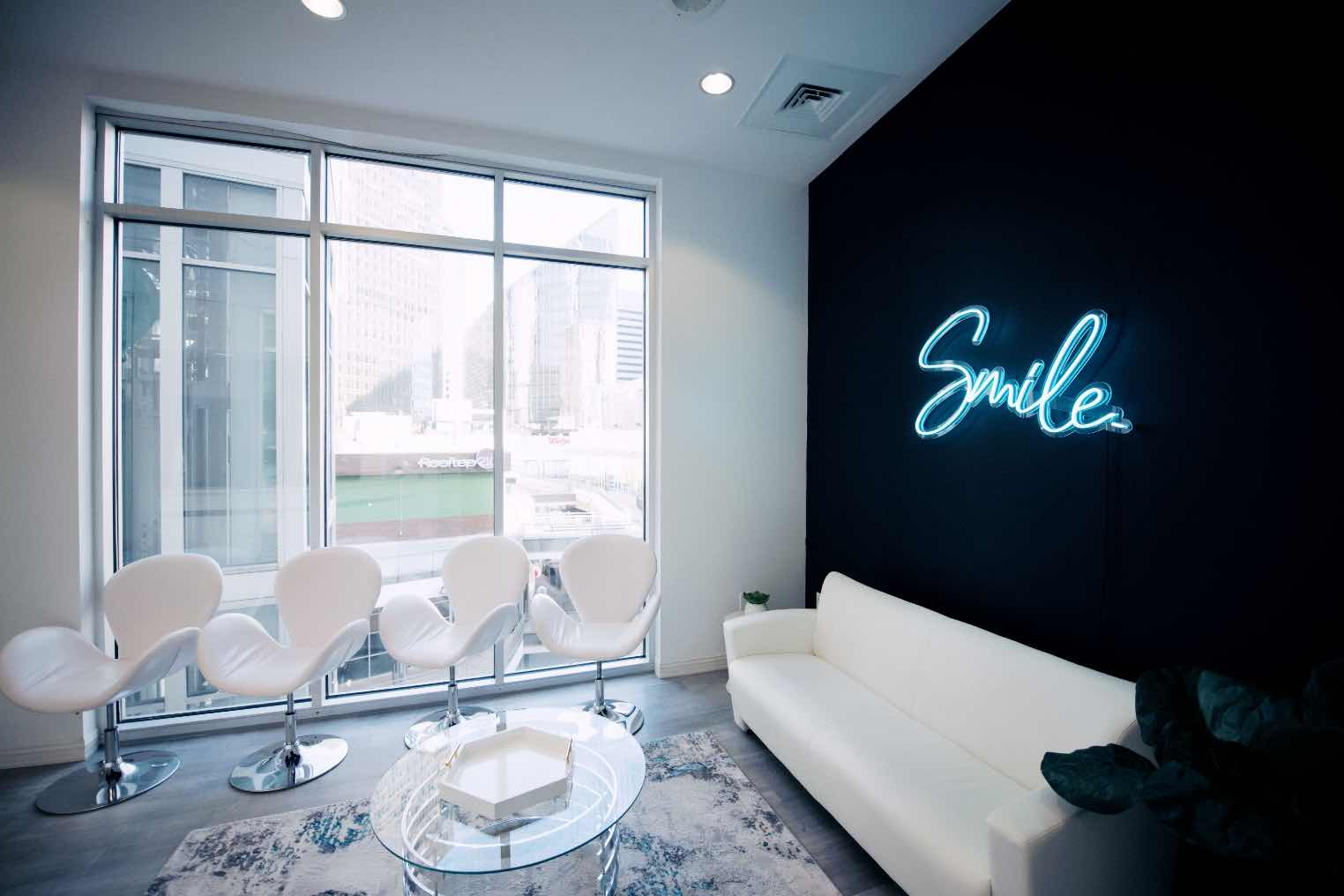 Photo of the lobby at Skyview Dentistry in downtown Charlotte