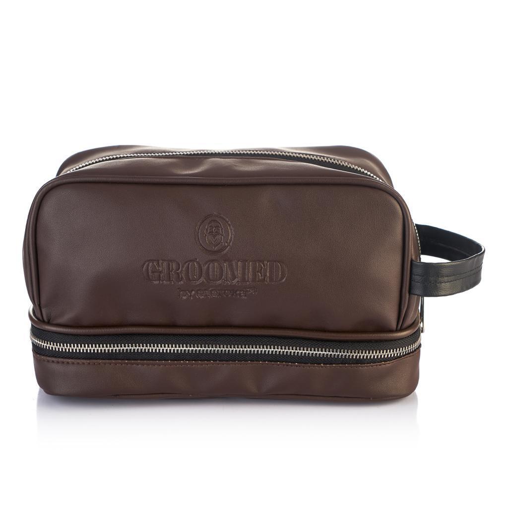 Brown Groomed clipper bag