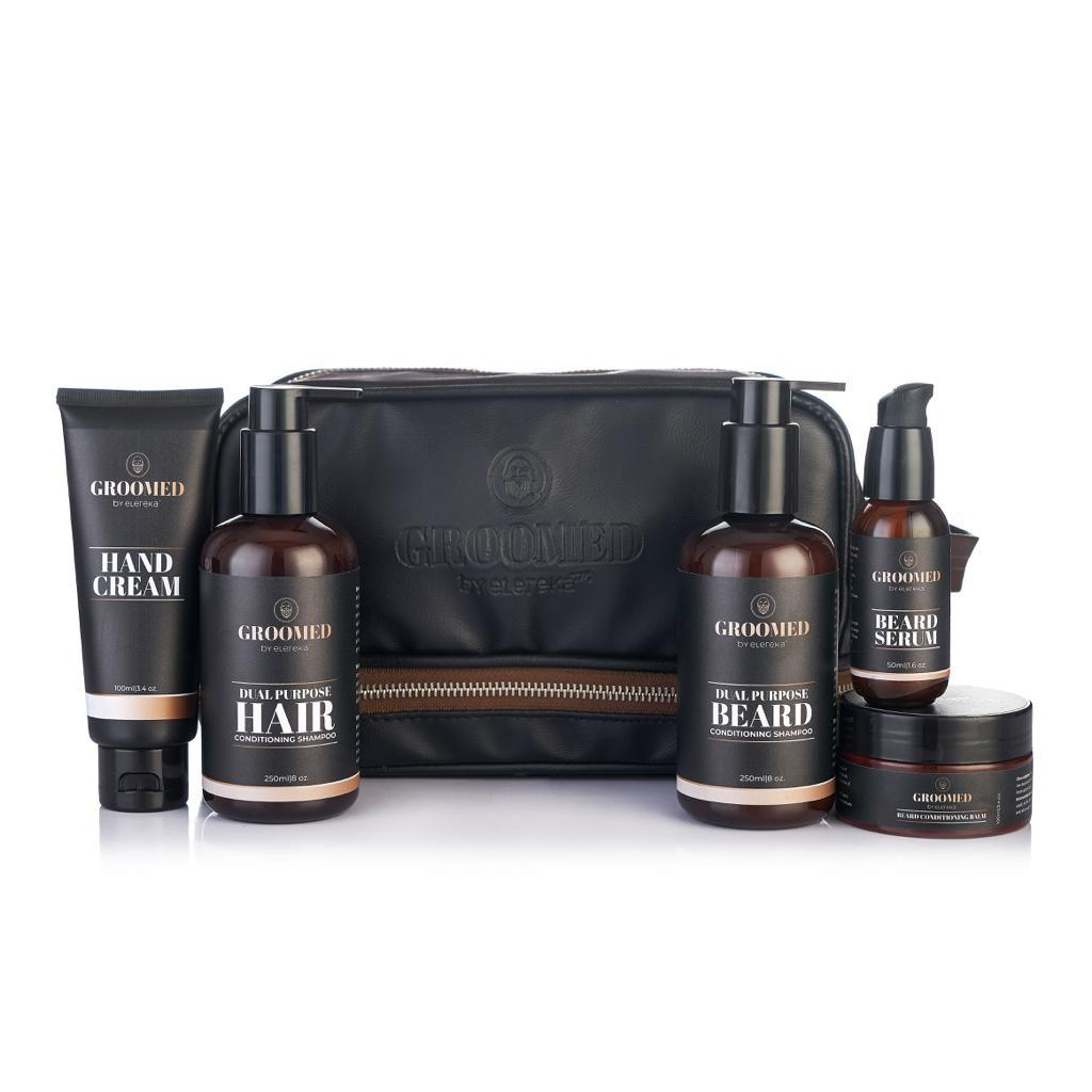 Groomed kit with hand cream and clipper bag