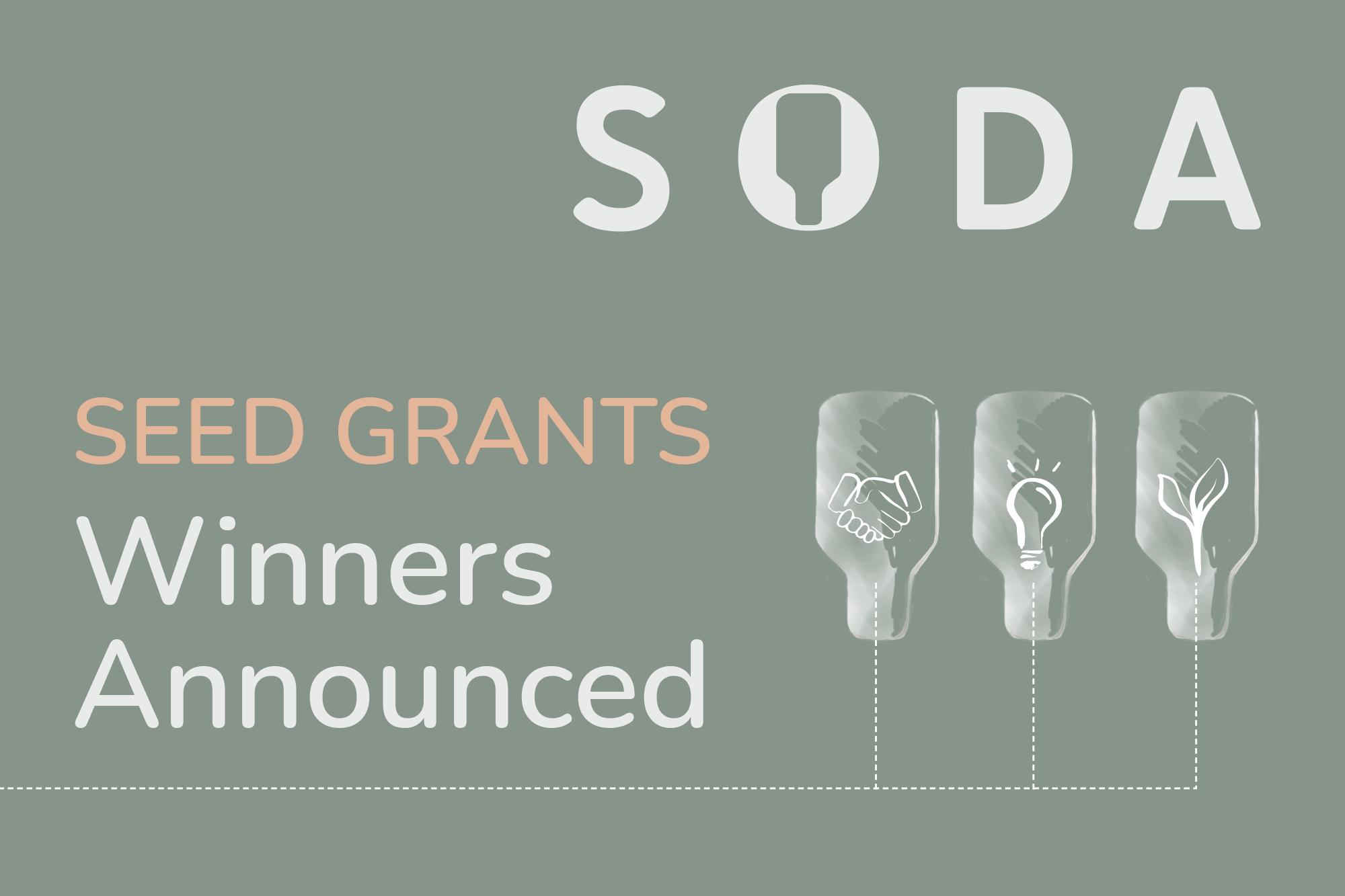 Soda Seed Grant Winners Announced