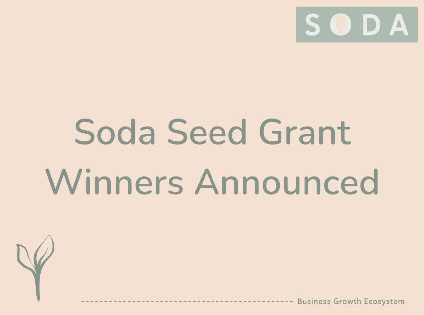 Soda Seed Grant Winners