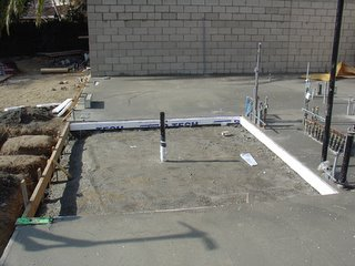 On-going concrete pouring