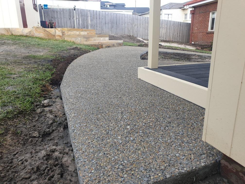 Con-Tek concrete pavement walkway