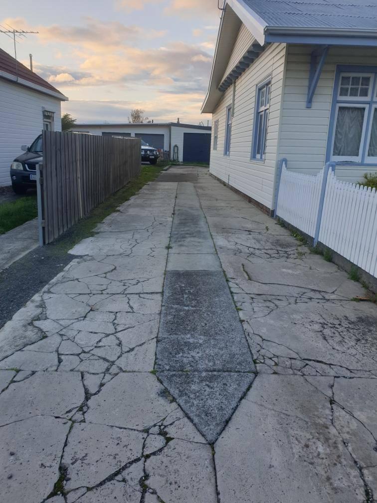 Con-Tek concrete pavement before