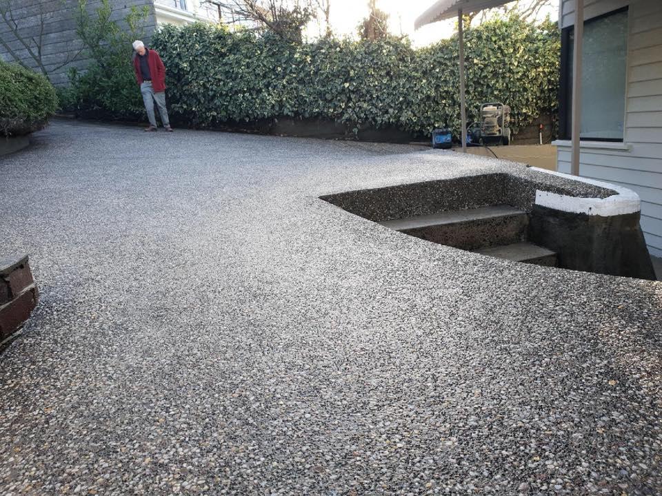 Con-Tek concrete pavement elevated