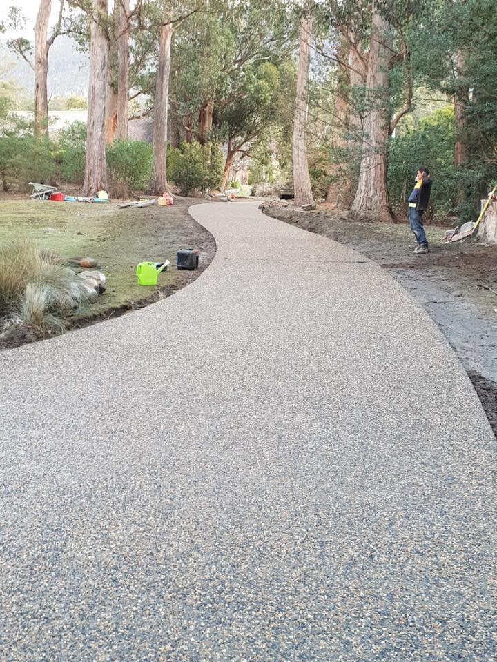 Con-Tek concrete pavement driveway C after