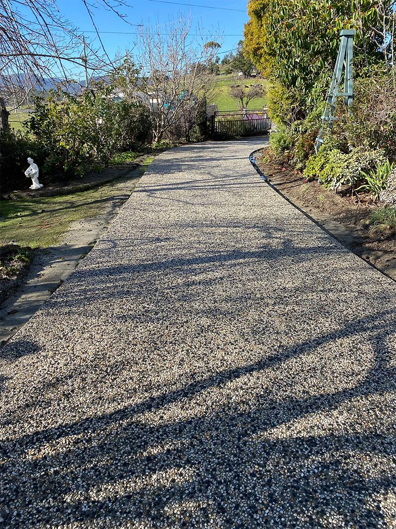 Con-Tek concrete pavement driveway D after