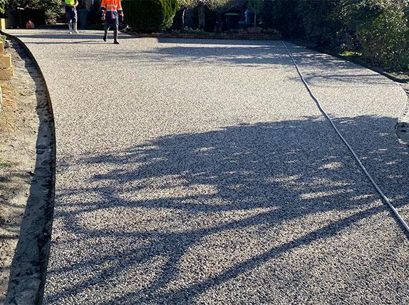 Con-Tek concrete pavement driveway after