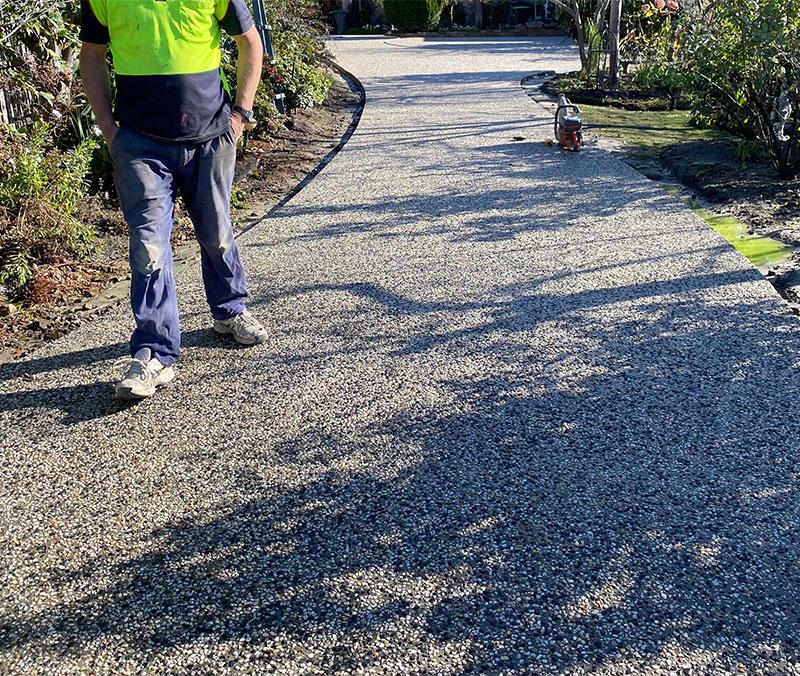 Con-Tek concrete pavement driveway E after