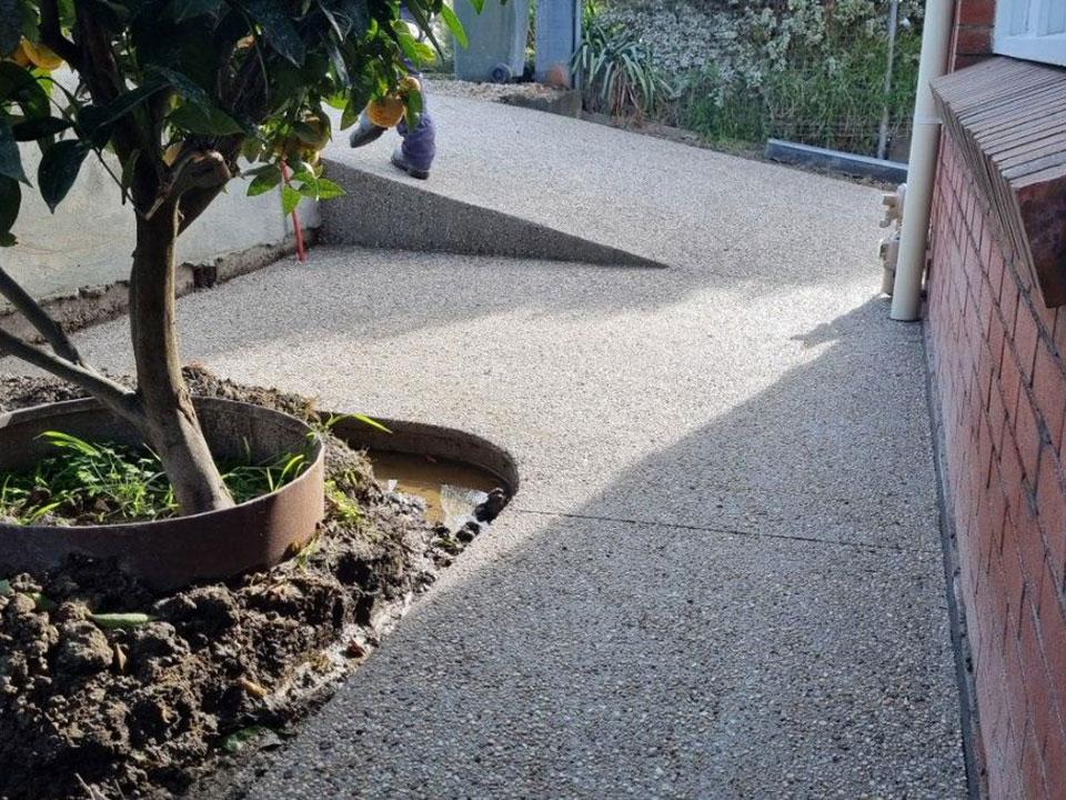 Con-Tek concrete pavement pathway