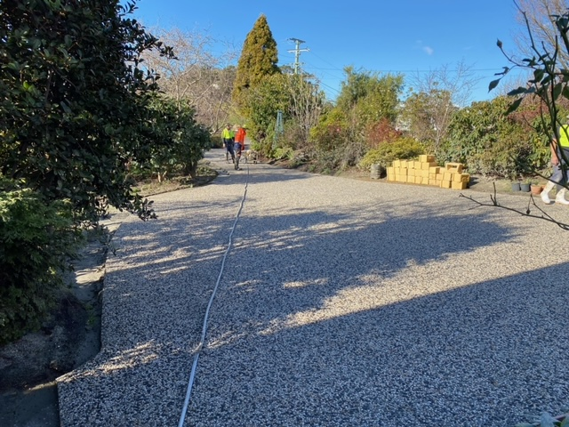 Con-Tek concrete pavement beside garden