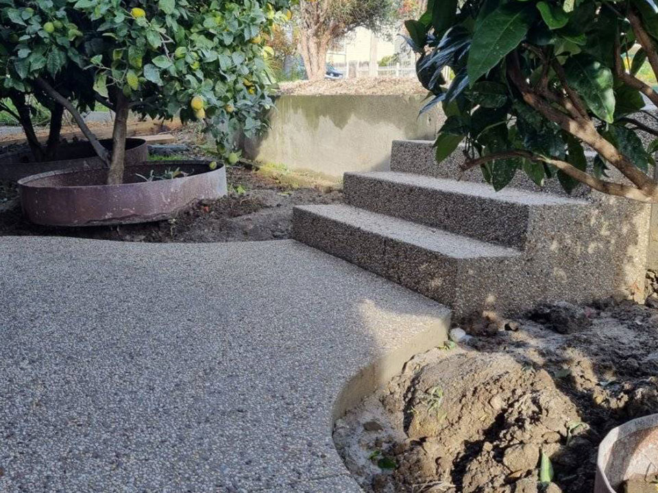 Con-Tek concrete pavement with stairs