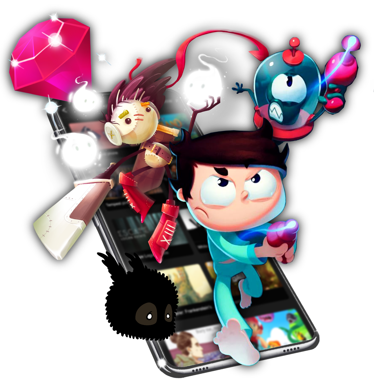 Hundreds of mobile games available instantly