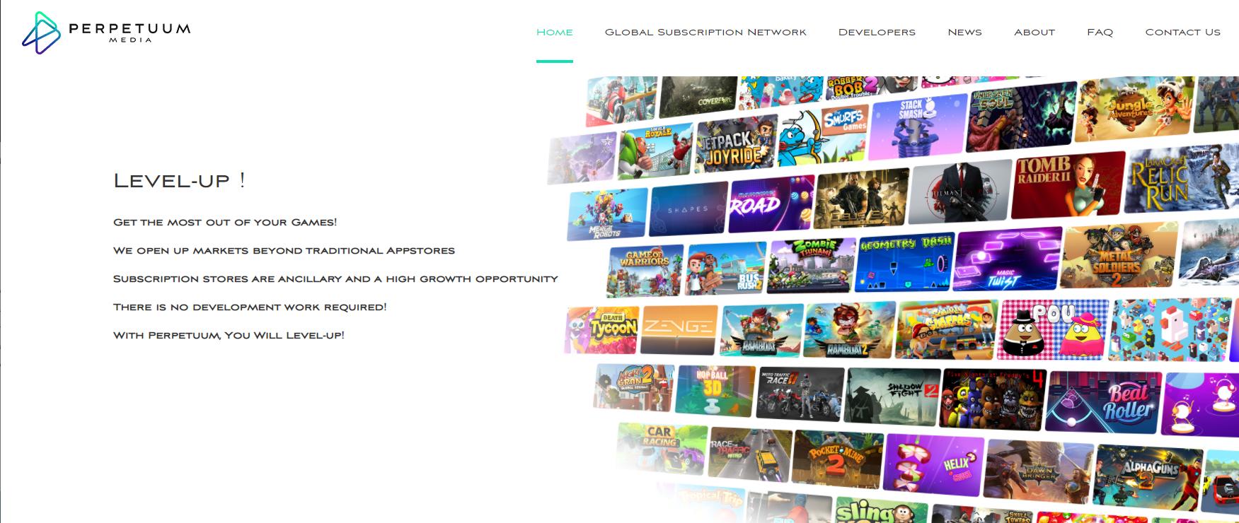 Perpetuum Media games logo