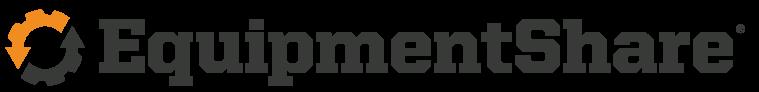 EquipmentShare logo with orange and black gear