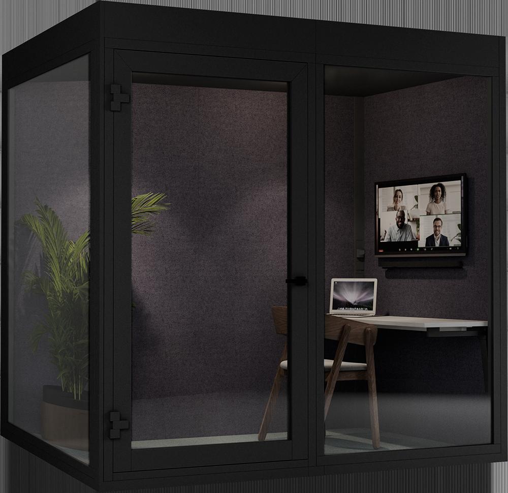 Lydisolerte stillerom perfekt for møter, konferanser og videomøter