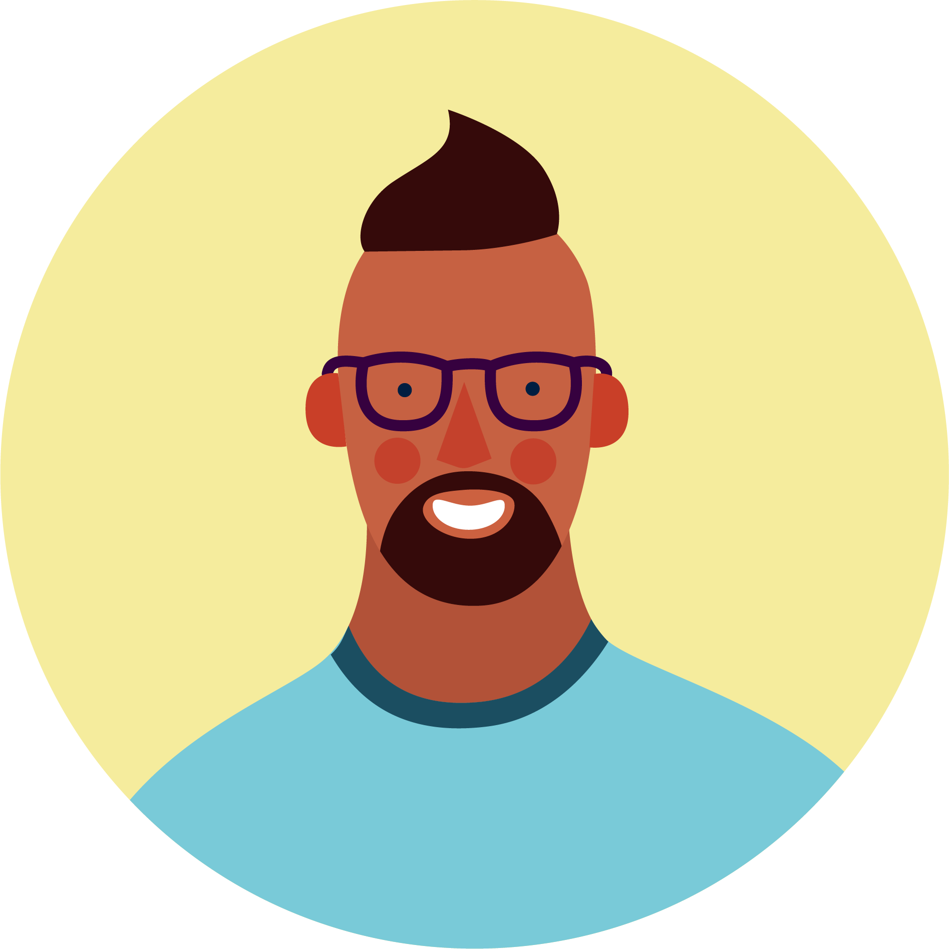 illustration of a person smiling