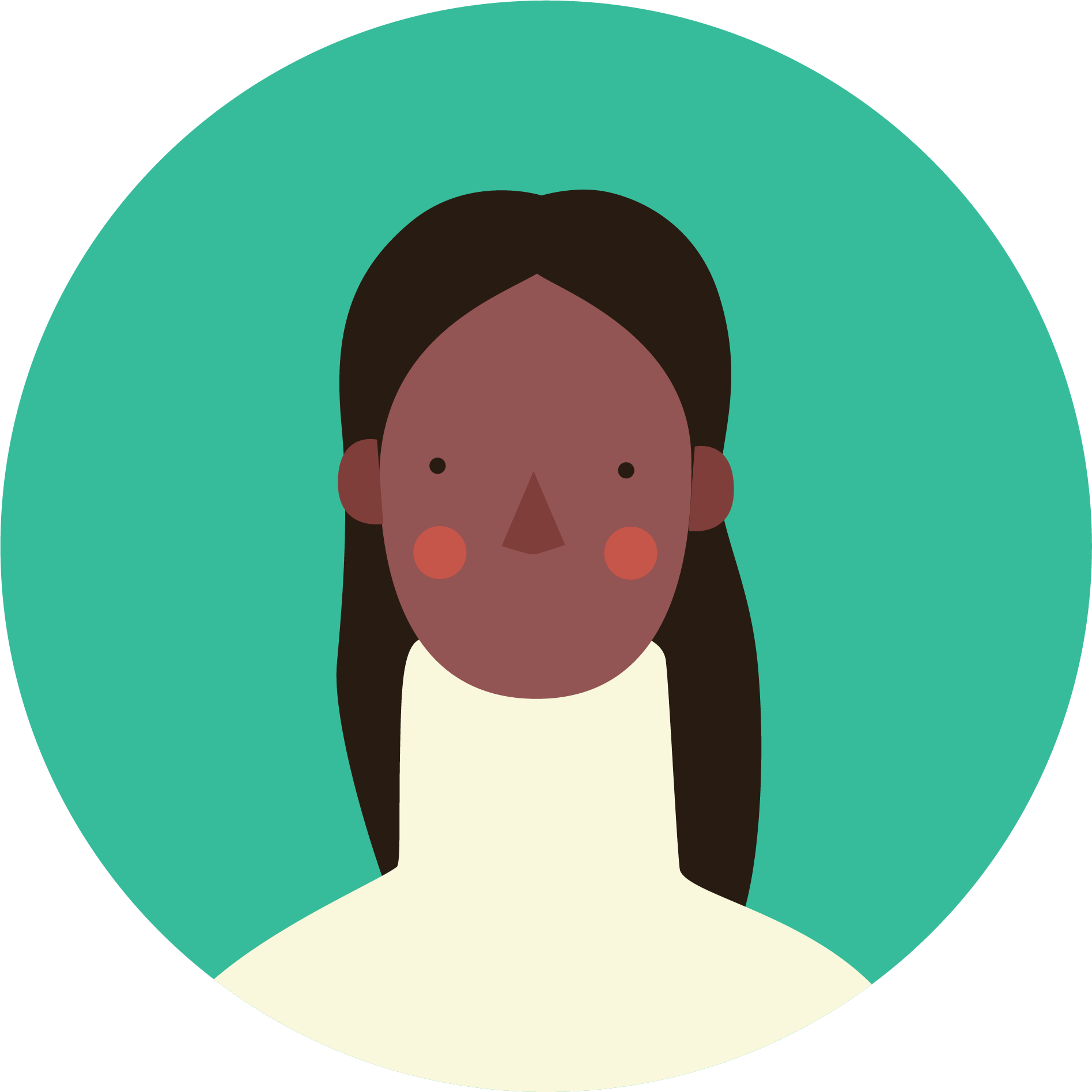 Illustration of an African American woman smiling