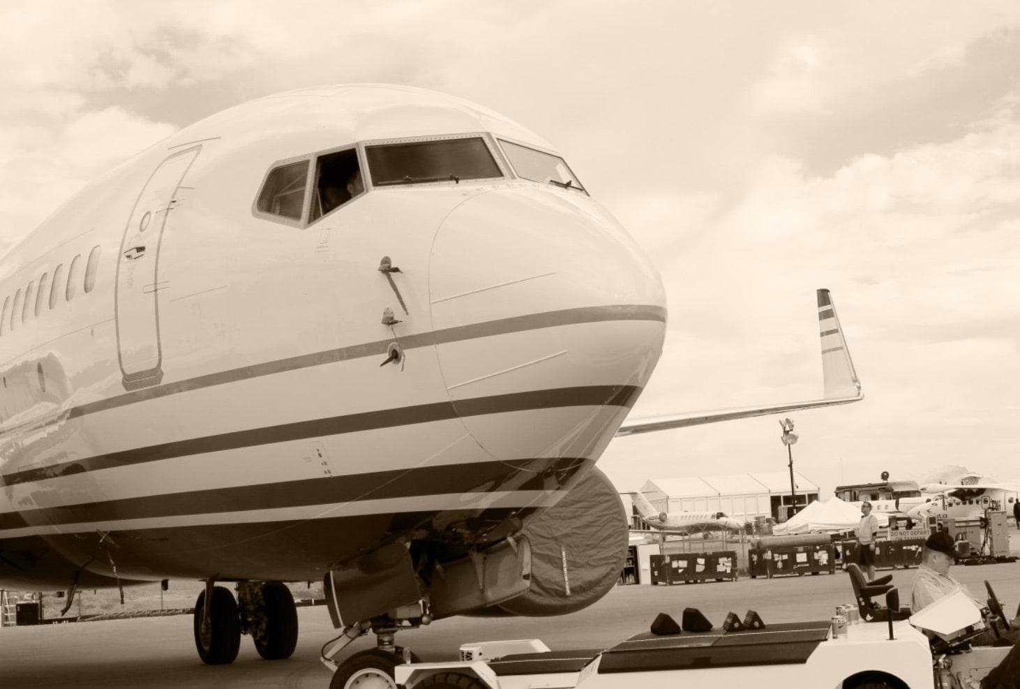 jet plane at a terminal