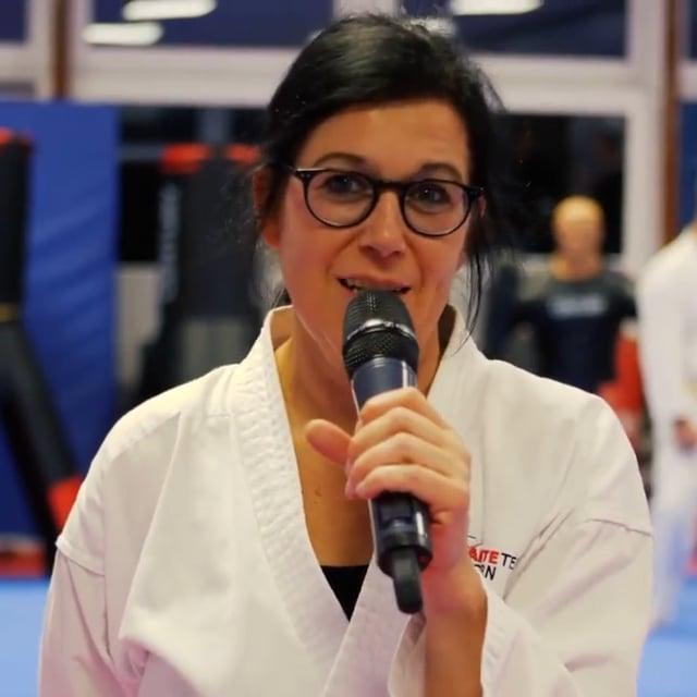Die erste weibliche Teilnehmerin im Blackbelt-Elite Training. Sie wird demnächst mit dem schwarzen Karate Gürtel abschließen
