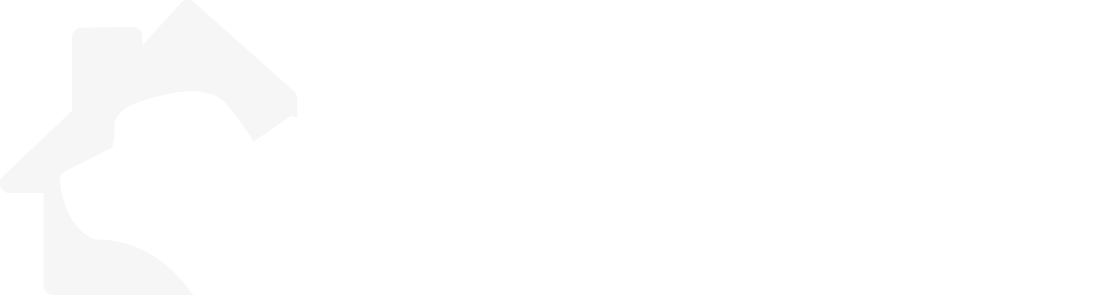 creature calls logo in white with cat and dog in house