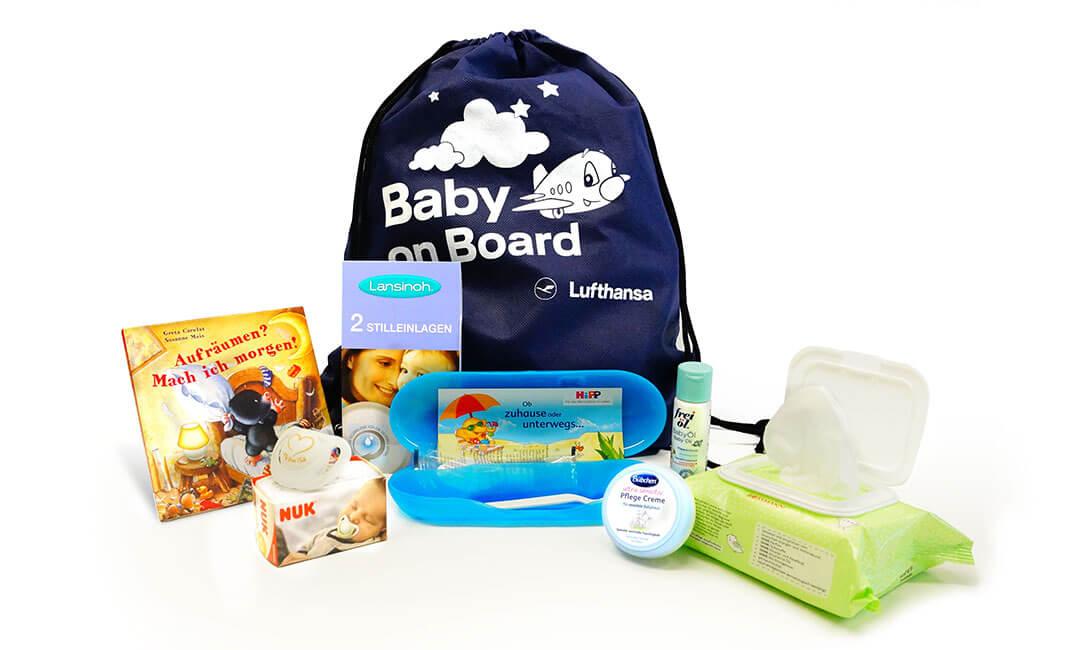 Das Lufthansa Babykit und seine Inhalte