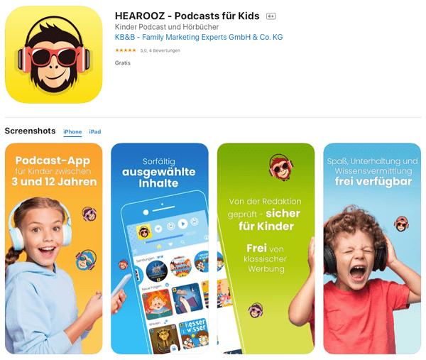 Screenshot von HEAROOZ im Apple App Store