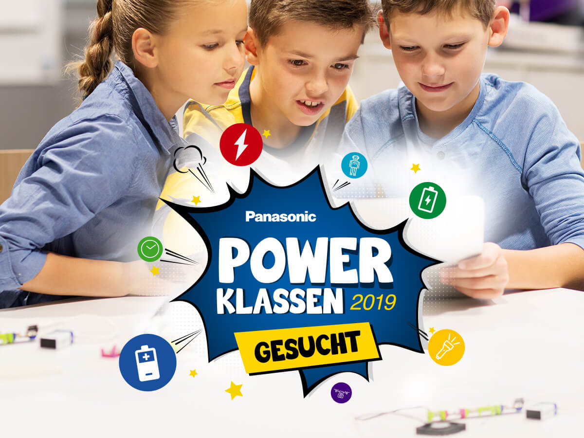 Panasonic Power Klassen Marketingkampagne für Kinder