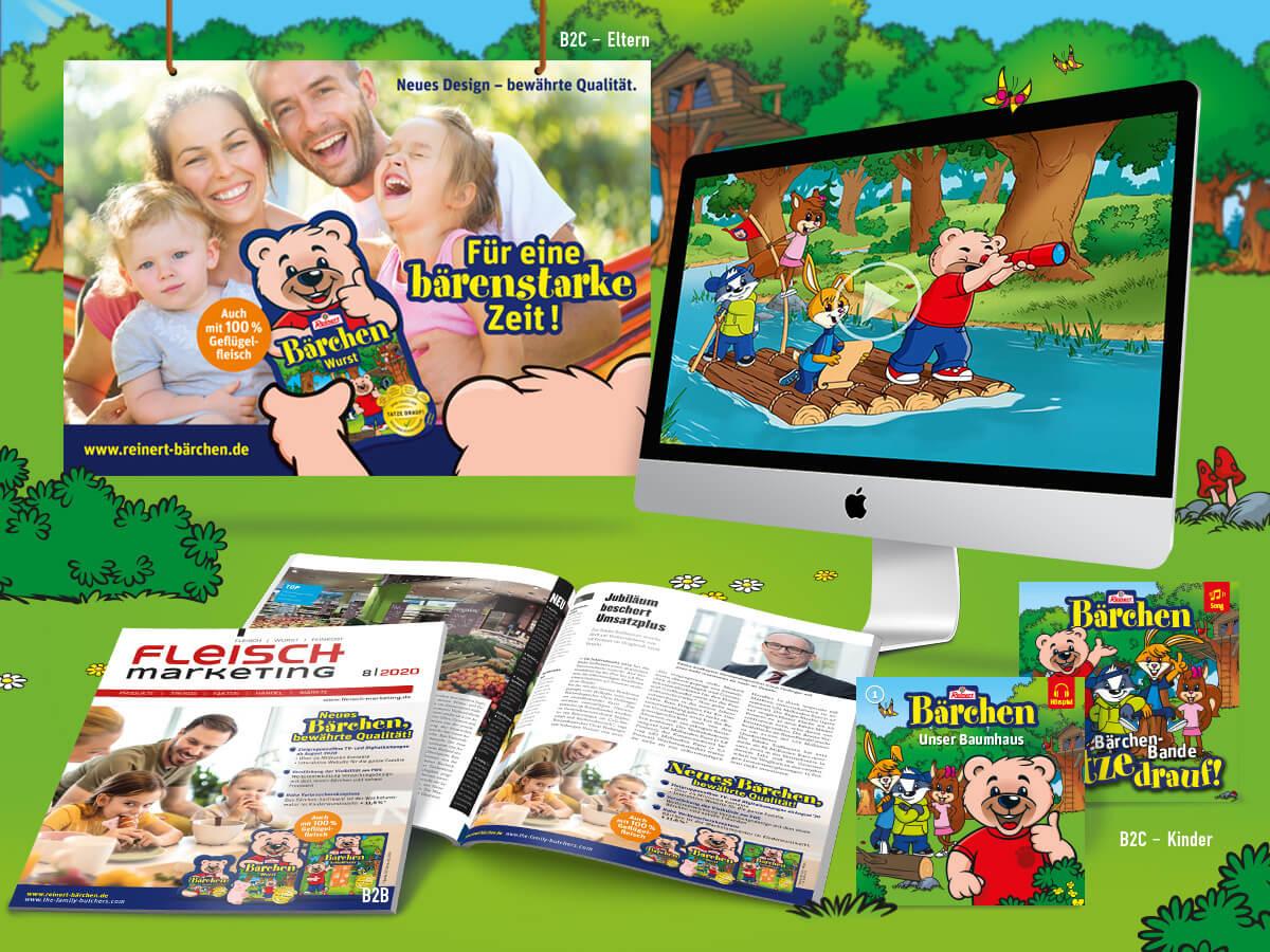 Bärchen Marketingkampagne für Kinder