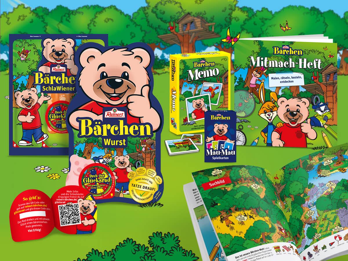 Launch-Promotion (POS und Prämien) der Marke Bärchen