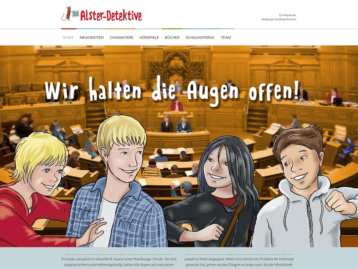 Die Alster-Detektive Website