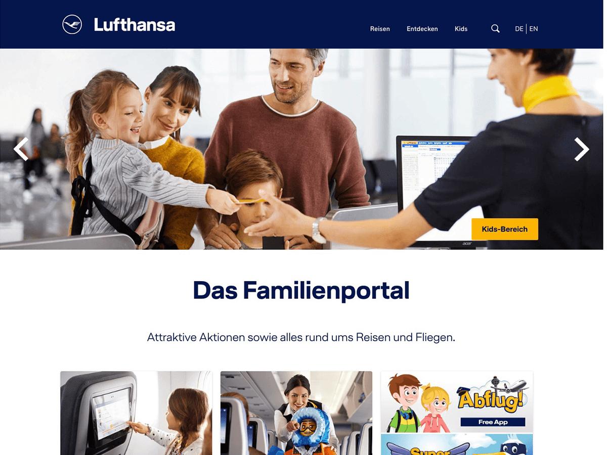 Lufthansa Familienportal