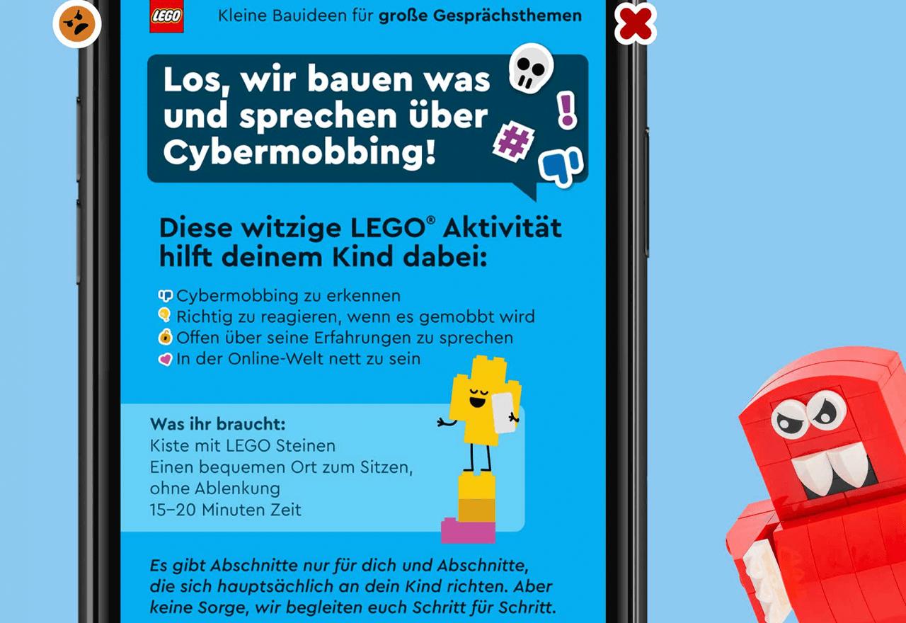 Lego setzt sich gegen Cybermobbing ein