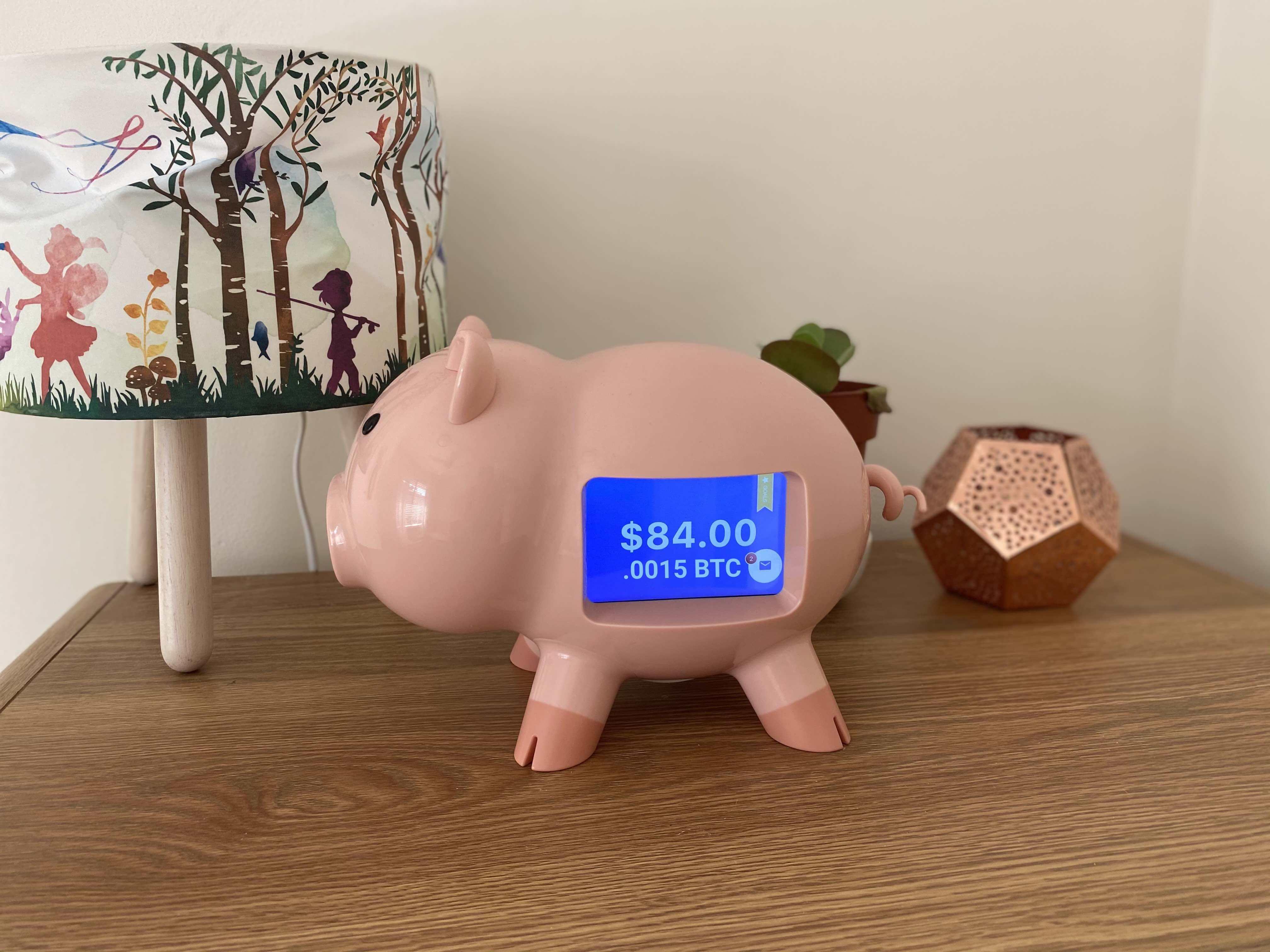 Mit dem Sparschwein von Strive können Eltern ihren Kindern ihr Taschengeld jetzt in Bitcoin und anderen Crytocurrencies bezahlen. Der aktuelle Kontostand wird auf einem Screen angezeigt. So soll Kindern der Umgang mit Geld - und die Zukunft des Geldes - beigebracht werden.