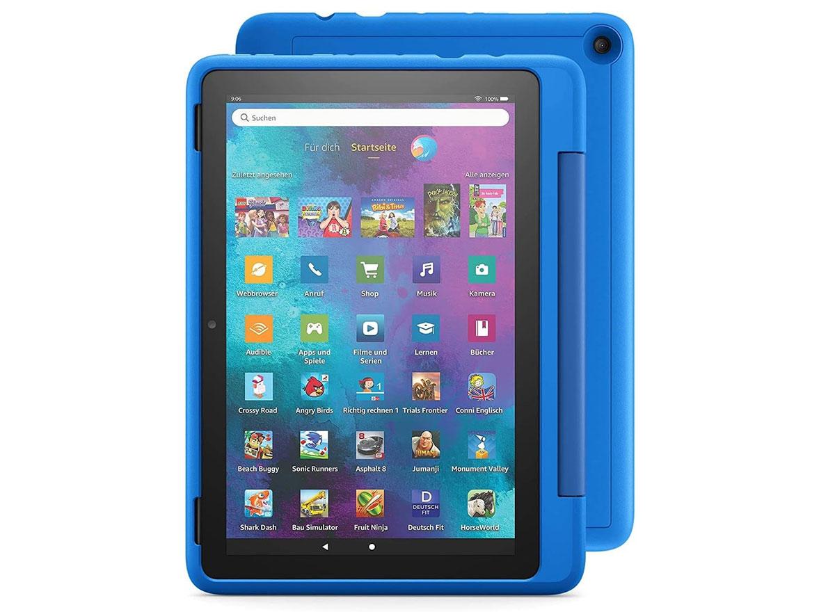 Das Fire HD 10 Kids Pro ist explizit kein Spielzeug. Ein einjähriges Abo von Amazon Kids+ ist im Preis enthalten, damit Kinder Zugriff zu altersgerechten Apps und weiterem Content haben. Darüber hinaus können Apps im Shop bei den Eltern angefragt werden. Der Webbrowser ist mit einer Kindersicherung versehen.