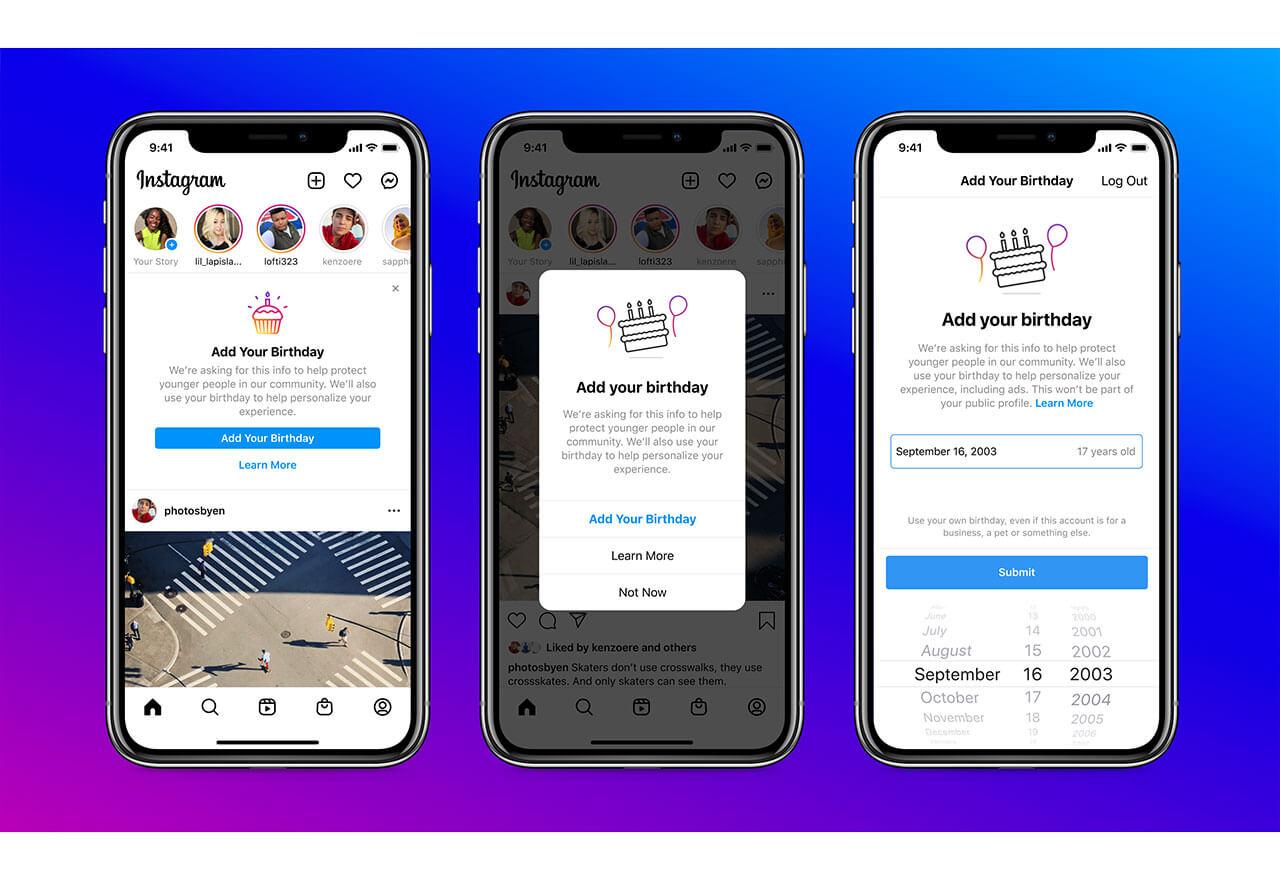 Um die Plattform sicherer für Jugendliche zu machen, werden Nutzer:innen Instagram künftig nicht mehr verwenden können, ohne ihr Geburtsdatum anzugeben.